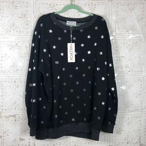 Wildfox | oversized snowflake sweatshirt